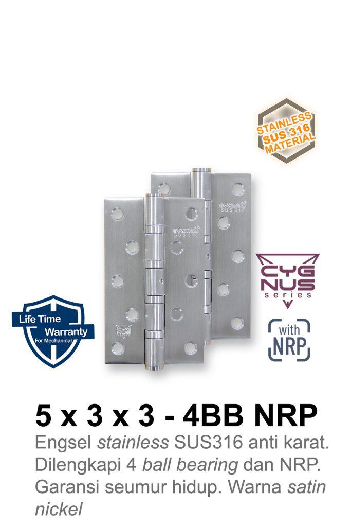 5x3x3 4BB NRP SUS316